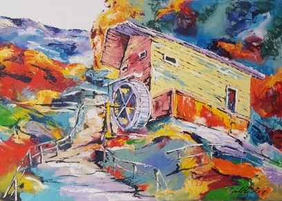 Mill, Bakter Ante, oil on canvas