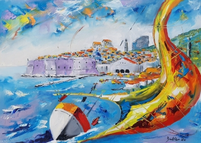 Dubrovnik 2030 (bez okvira), Bakter Ante, oil on canvas