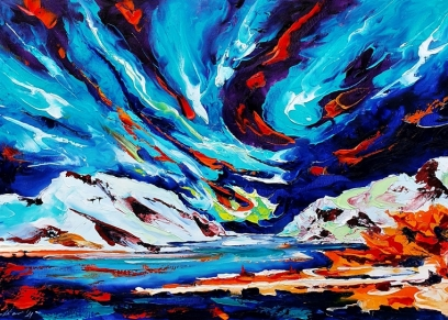 Northern Lights 2105, Bakter Ante, oil on canvas