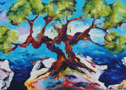 Olive tree 2131, Bakter Ante, oil on canvas