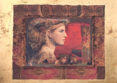 Profile in red N 70, Berber Mersad, giclee