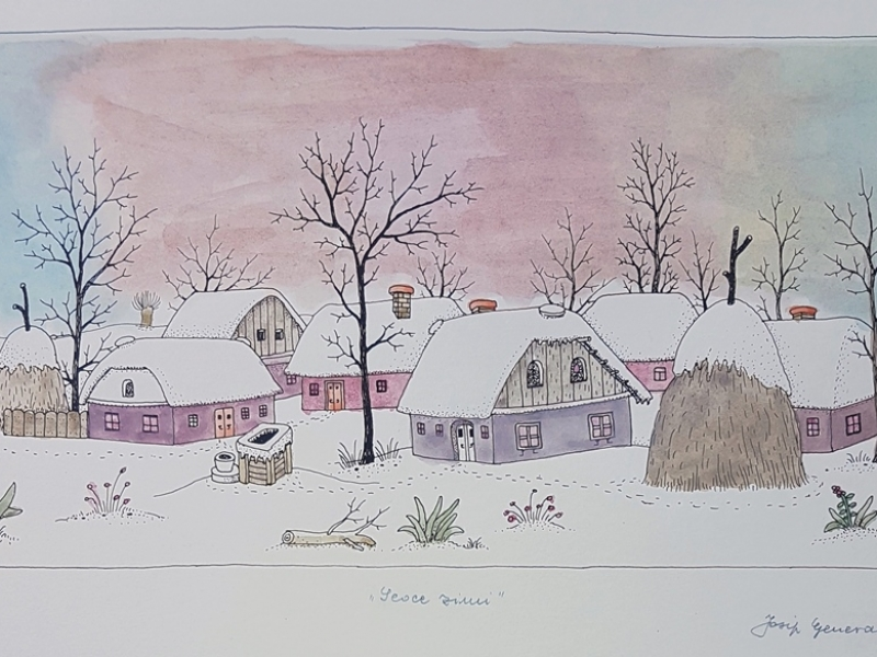 A village in winter I
