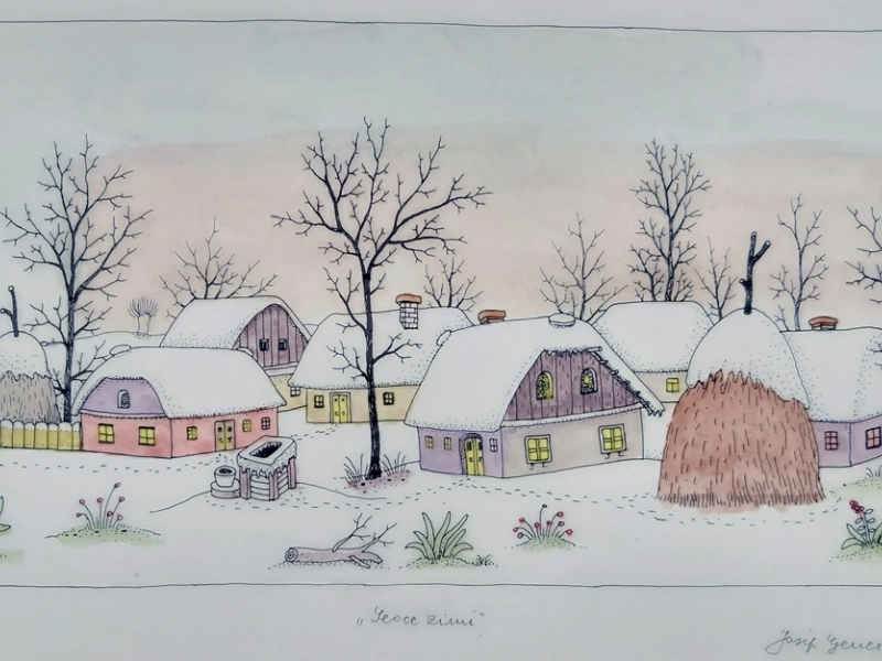 Village in winter III