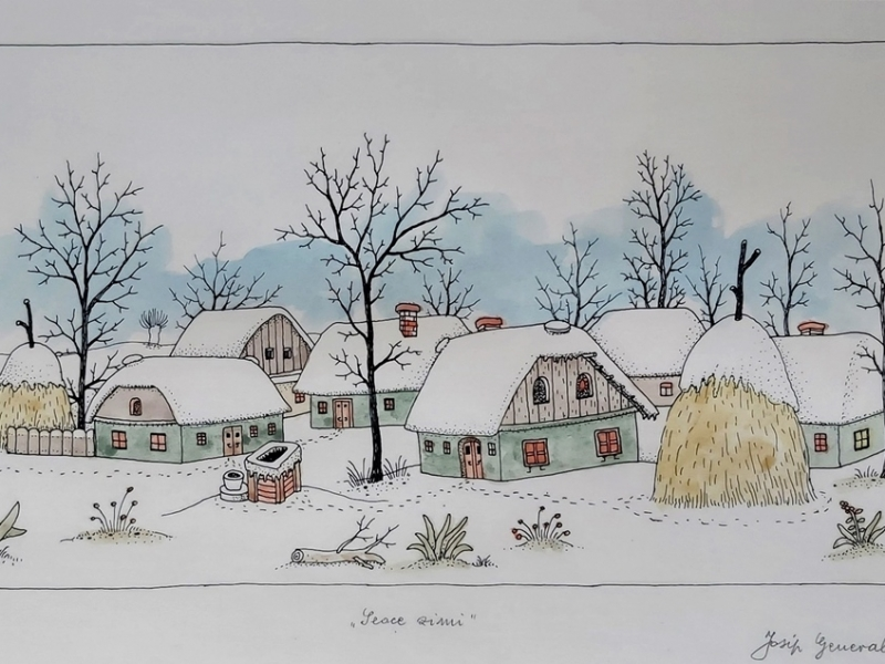 A village in winter V