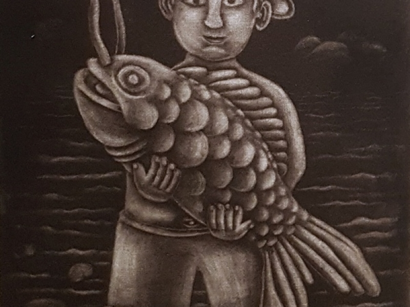 Fisherman with a Fish