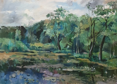 Karavaev - Lake RUS 821, Strani umjetnici / Foreign artists, oil on canvas
