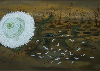 Flower in the Field 1964., Lacković Ivan - Croata, oil on glass