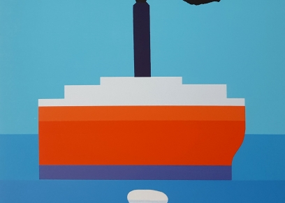 Sailor and the ship, Lipovac Vasko, graphic / print