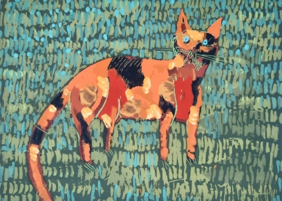 Female cat, Vrkljan Zlatan, graphic / print